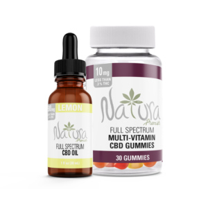 Natura Premier Full Spectrum CBD Oil bundled with CBD Multi-Vitamin Gummies